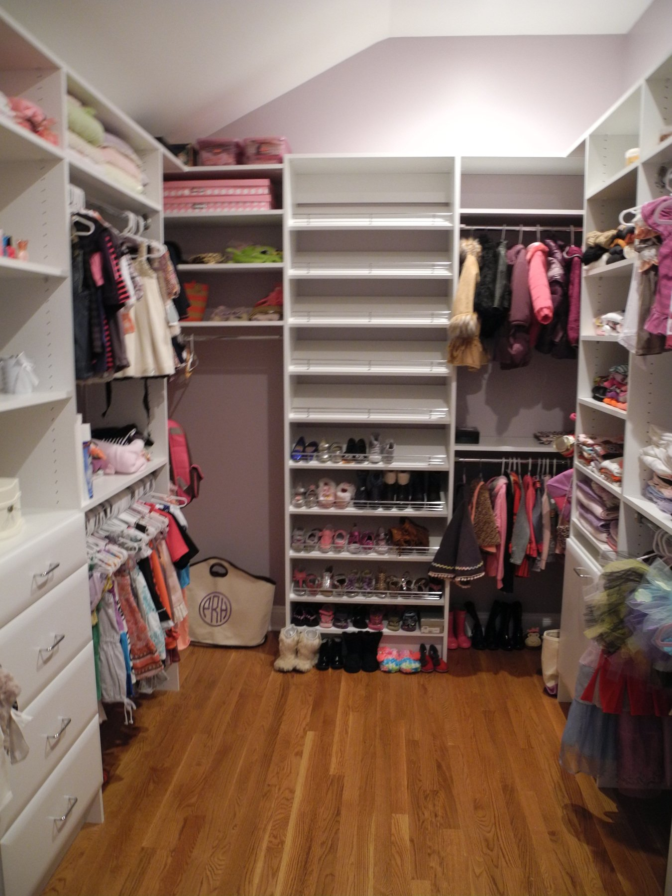 Huge Pink Walk In Closet