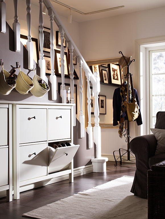 ikea wohnzimmer hemnes:IKEA Shoe Cabinet Entryway Ideas
